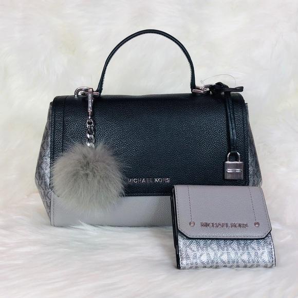 711bdcc0f438 Michael Kors Bags | 3pcs Md Hayes Satchel Wallet Charms | Poshmark